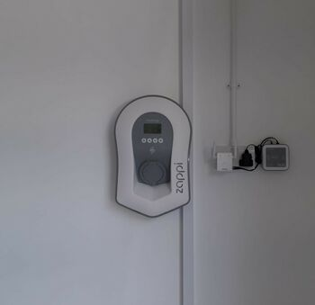 A photo of a recent home EV charging project