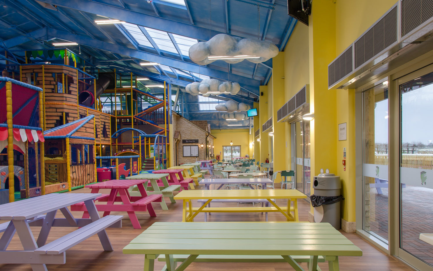Lighting for an indoor children's play area
