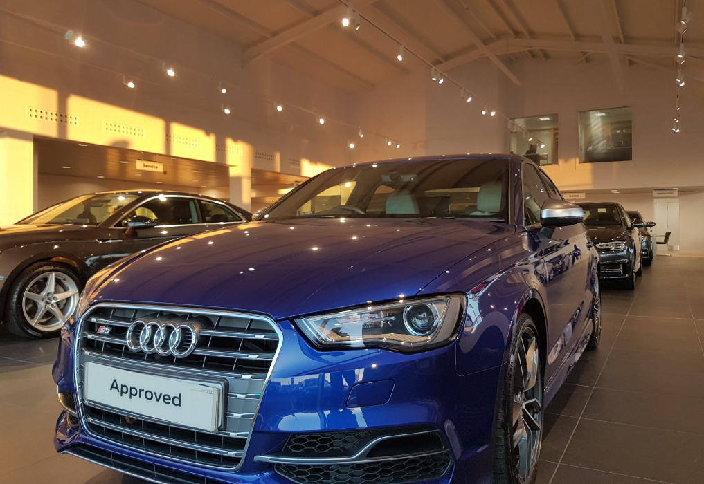 LED lighting in an Audi showroom