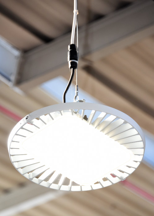 A typical LED light fitting